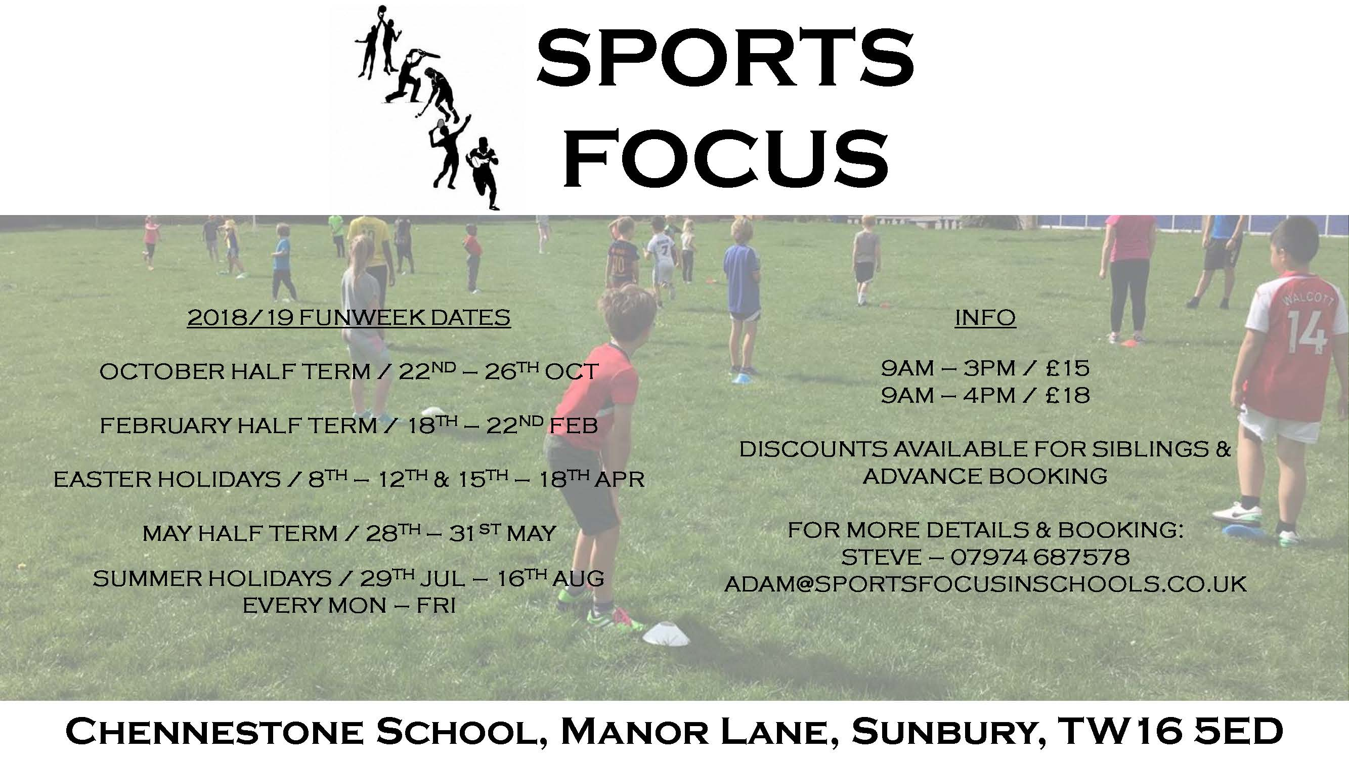 Chennestone School – 2019 multi sport funweeks